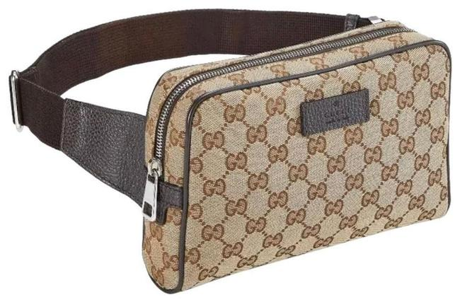 Gucci Crossbody Belt Bag New Fanny Pouch Pack Beige Brown Gg Supreme Canvas Tote Gucci Crossbody Belt Bag New Fanny Pouch Pack Beige Brown Gg Supreme Canvas Tote Image 1
