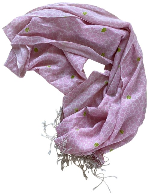 Item - Pink Green Nwot Silk and Cashmere Scarf/Wrap