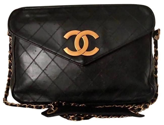 Chanel Classic Flap Camera Case XL Quilted Calfskin Oversized Cc Logo Jumbo Shoulder Bag Chanel Classic Flap Camera Case XL Quilted Calfskin Oversized Cc Logo Jumbo Shoulder Bag Image 1