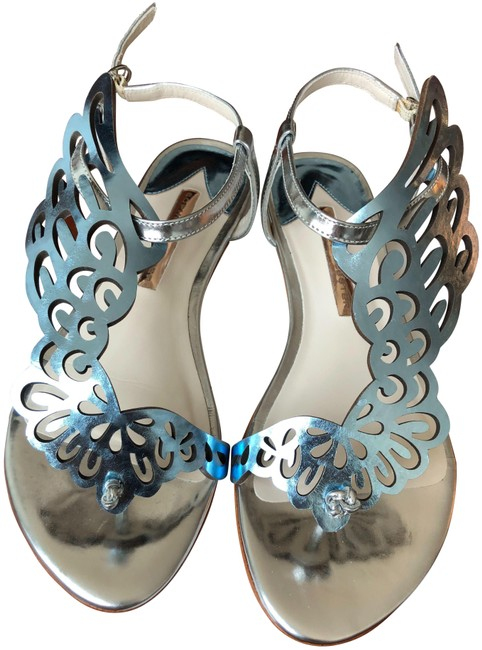 Item - Silver Blue Seraphina Wing Us7 Sandals Size EU 37 (Approx. US 7) Regular (M, B)