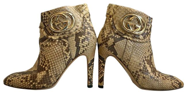 Item - Beige/Brown Python Snakeskin Leather Lifford 163306 Boots/Booties Size US 6 Wide (C, D)
