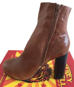 Jeffrey Campbell Kitsap Heels 4 3/4 Heels Warm Shade Of Brown Caramel Color Boots