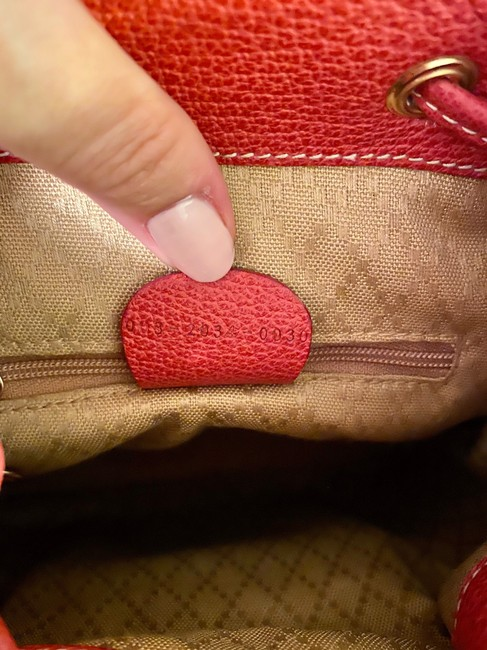 Gucci Vintage Mini Bamboo Red Suede Leather Backpack Gucci Vintage Mini Bamboo Red Suede Leather Backpack Image 5
