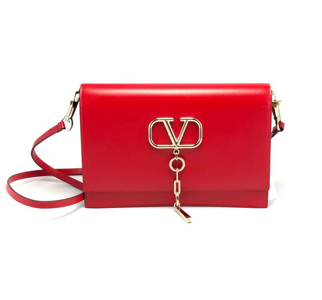 Item - Vchain Red Leather Cross Body Bag