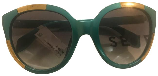 Item - Teal/Gold Retro-styled Sunglasses