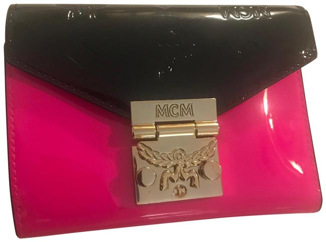 Item - Hot Pink Black Patent Leather French Purse Wallet
