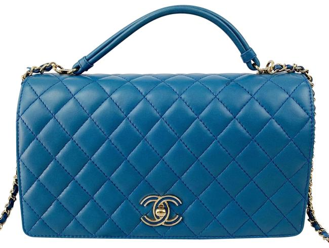 Chanel Classic Flap Quilted Citizen Chic Small Blue Lambskin Leather Cross Body Bag Chanel Classic Flap Quilted Citizen Chic Small Blue Lambskin Leather Cross Body Bag Image 1