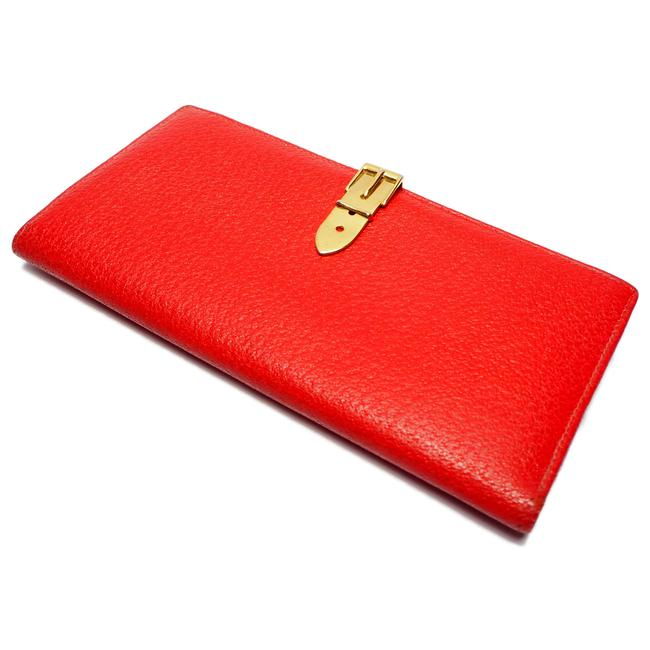 Item - Red Color W Oldgucci Old Hook Calf Leather 035 ・ 661 1664 0 Ladies Wallet