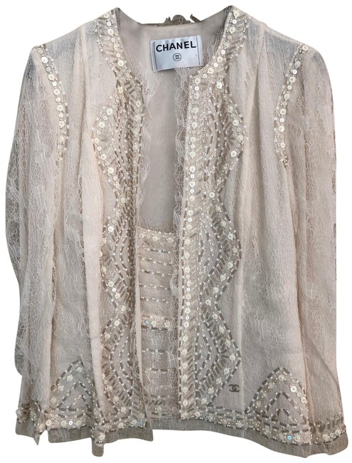 Item - Ivory Lesage Top And Jacket Size 2 (XS)