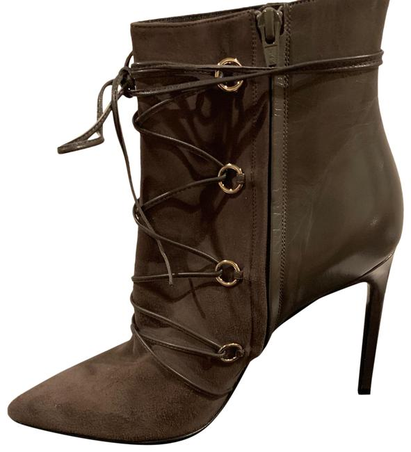 Item - Grey Lace Up Suede/Leather Boots/Booties Size US 10.5 Regular (M, B)