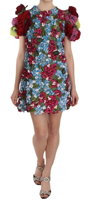 Item - Multicolor Floral Button Crystal Mini G Short Casual Dress Size 0 (XS)