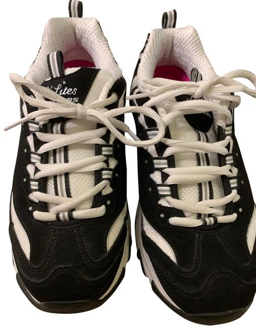 Item - Black and White W/ Hints Of Silver Glitter D'lites Sneakers Size EU 38.5 (Approx. US 8.5) Regular (M, B)