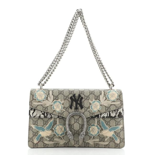 Gucci Dionysus Mlb Embroidered Gg with Small Brown Print Canvas Coated Python Exotic Shoulder Bag Gucci Dionysus Mlb Embroidered Gg with Small Brown Print Canvas Coated Python Exotic Shoulder Bag Image 1