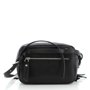 Saint Laurent Lou Leather Wristlet in Black
