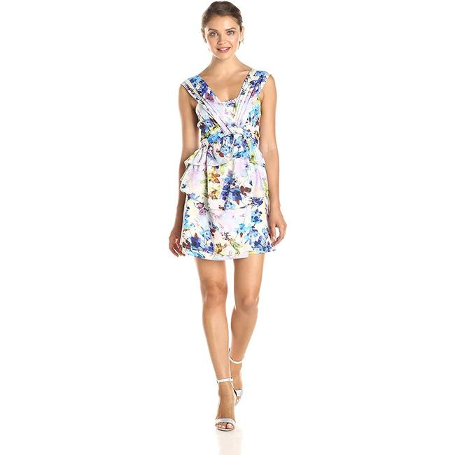 Item - Multicolor Sleeveless Layered Flare Short Cocktail Dress Size 4 (S)