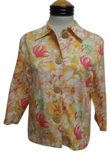 Coldwater Creek Floral Spring Multi Color Jacket