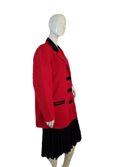 Item - Red and Black Sweater Jacket 40-42 Sku 000141 Blazer Size 8 (M)