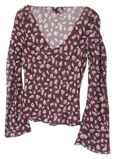 Item - Purple Sheer Pullover Blouse Size 8 (M)