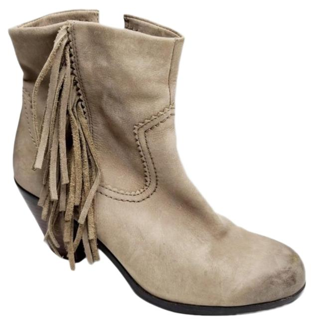 Item - Tan Louie Fringe Trimmed Ankle Boots/Booties Size US 7.5 Regular (M, B)