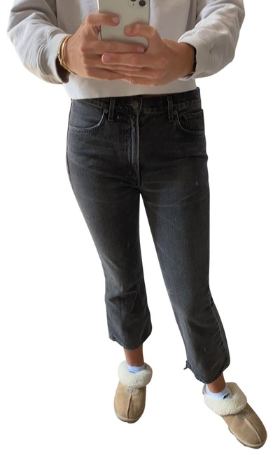 Item - Dark Grey Black Estella High Rise Ankle Flare Leg Jeans Size 8 (M, 29, 30)
