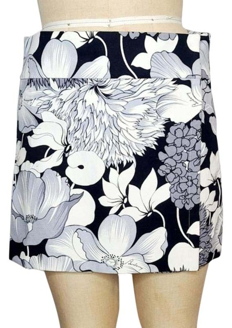 Item - Black Gray White Pop Art Mod Skirt Size 6 (S, 28)