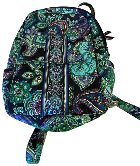 Item - Small Green and Blue Cotton Backpack