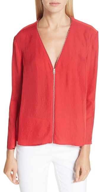 Item - Red Vanessa Crepe M Blouse Size 8 (M)