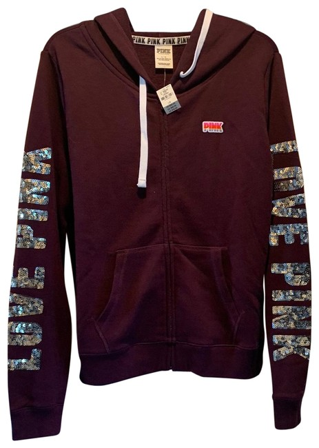 Item - Plum Popular Bling Logo Sweatshirt/Hoodie Size 12 (L)
