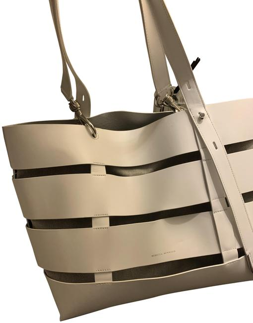 Item - Cage Stella Large White Leather Tote
