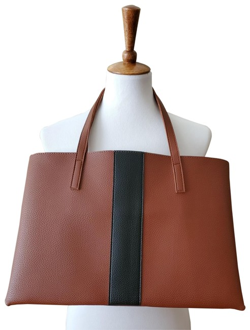 Item - Designer With Brown/Black Leather Tote