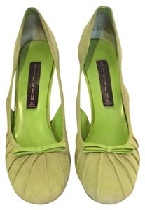 Steven by Steve Madden Lime Green Suede Pumps