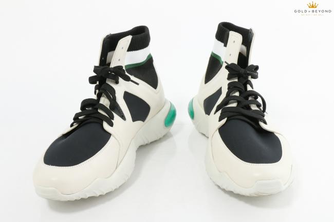 Item - White/Black Men's Lace-up Hi-tops In White/Black Sneakers Shoes