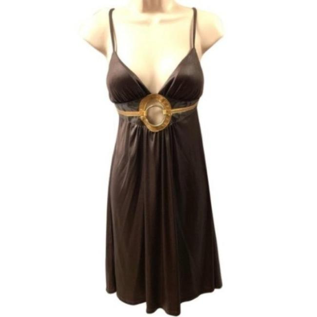 Item - Brown Sexy Small Night Out Dress Size 4 (S)