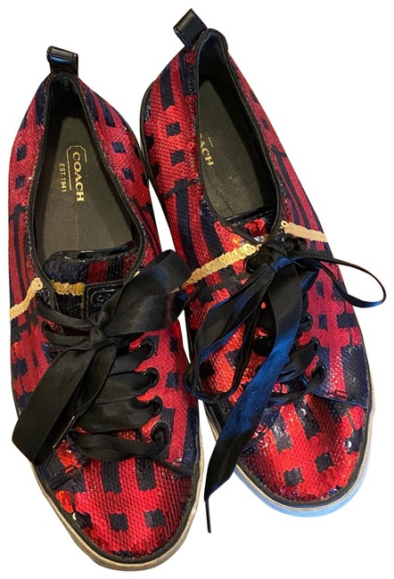 Item - Red and Black Sneakers Size US 8.5 Regular (M, B)