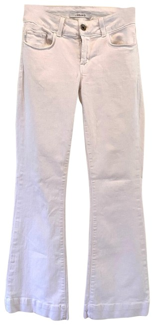 Item - White Love Story Stretch Boot Cut Jeans Size 27 (4, S)
