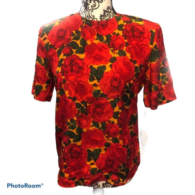 Item - Red Rose 1232 Blouse Size 4 (S)