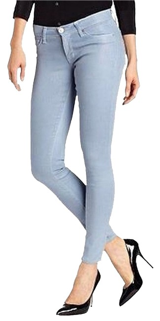 "Item - Blue ""Can't You See"" Coated Krista Super Skinny Jeans Size 28 (4, S)"