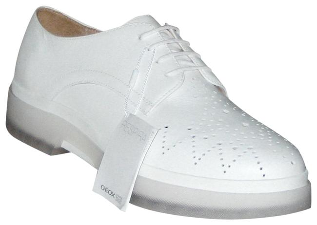 Item - White Respira D Myluse Laser Perforated Leather Oxfords Flats Size EU 41 (Approx. US 11) Regular (M, B)