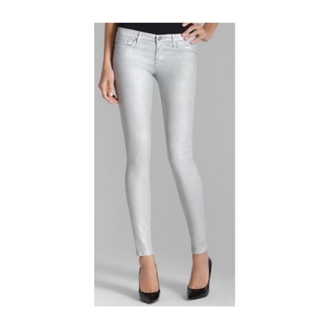 Item - Silver Coated Skinny Jeans Size 12 (L, 32, 33)
