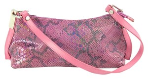 Claude Gerard Everyday Use Satchel in Pink Python