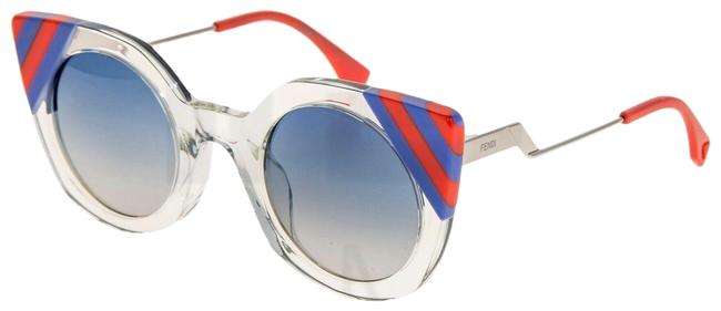 Item - Silver Blue Red Waves Ff0240s Crystal Green Stripe Gradient 0240 Sunglasses