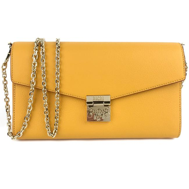Item - New Large Patricia Wallet Golden Mango Yellow Leather Cross Body Bag