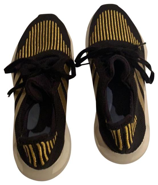 Item - Black and Gold Sneakers Size US 6 Regular (M, B)