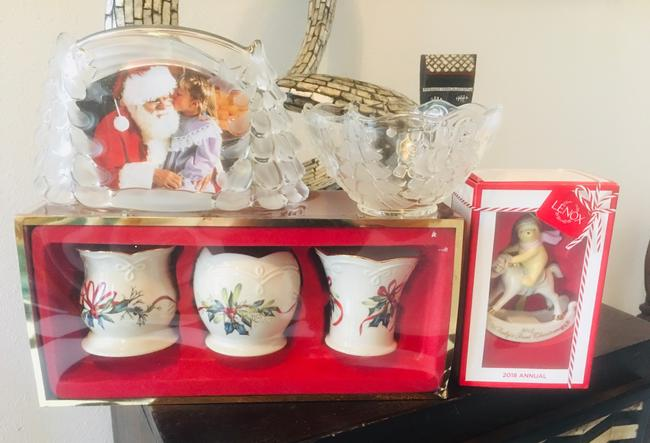LENOX Red Gold Green White Blue & Mikasa Christmas Bundle. All New. Decoration LENOX Red Gold Green White Blue & Mikasa Christmas Bundle. All New. Decoration Image 1