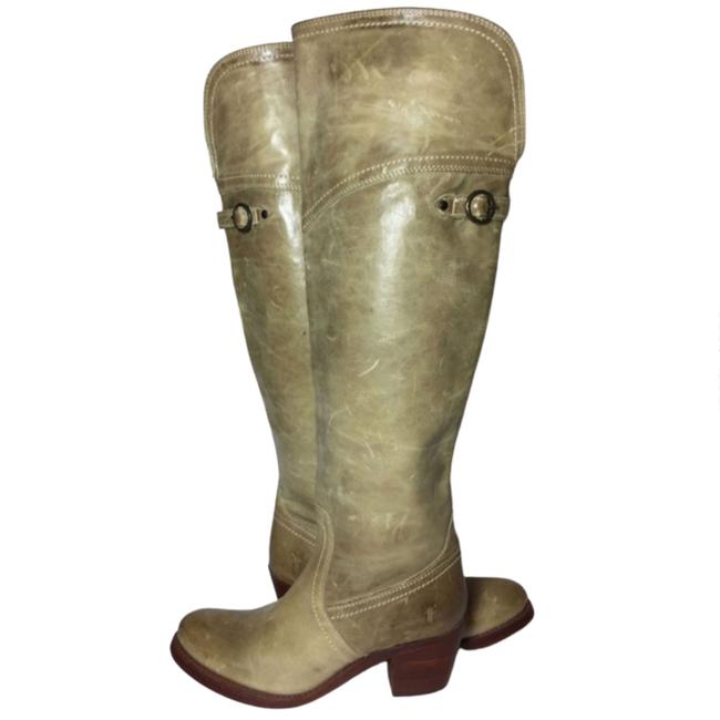 Item - Olive Green 77594 Jane Tall Cuff Leather Riding Motorcycle Boots/Booties Size US 6 Regular (M, B)