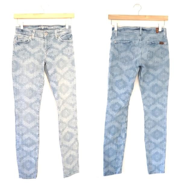 Item - Blue/Ligjht Blue Pattern Wash The Skinny Jeans Size 24 (0, XS)