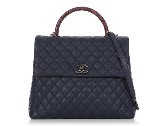Preload https://img-static.tradesy.com/item/27990414/chanel-coco-handle-large-burgundy-lizard-and-quilted-caviar-navy-blue-leather-shoulder-bag-0-0-540-540.jpg