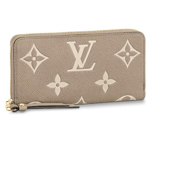 Item - Creme Gray Beige Zippy Giant Monogram Leather Large Limited Edition Wallet