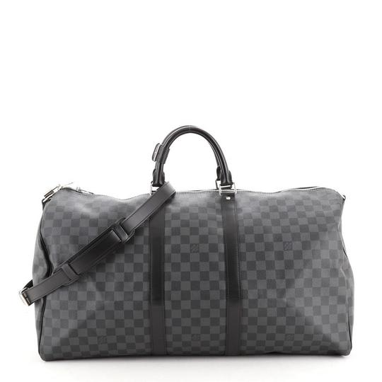 Preload https://img-static.tradesy.com/item/27991049/louis-vuitton-keepall-bandouliere-damier-graphite-55-black-coated-canvas-satchel-0-0-540-540.jpg