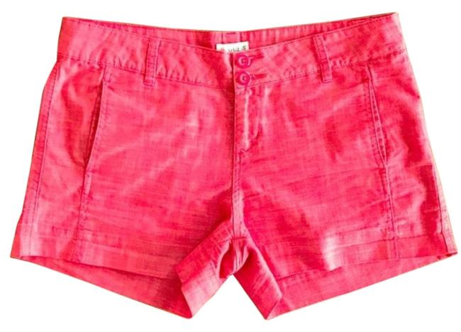 Preload https://img-static.tradesy.com/item/27991090/guess-heather-red-women-s-textured-twill-shorts-size-8-m-29-30-0-1-650-650.jpg